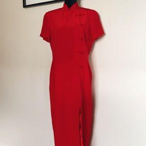 Spenser Jeremy Silk Red Dress